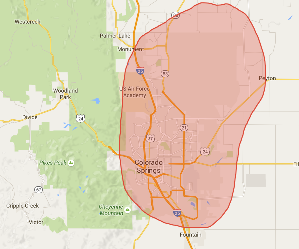 Our cleaning service areas in Colorado Springs