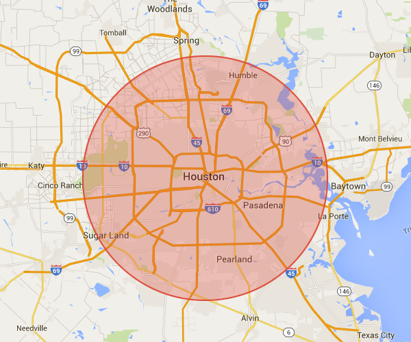 Our cleaning service areas in Houston