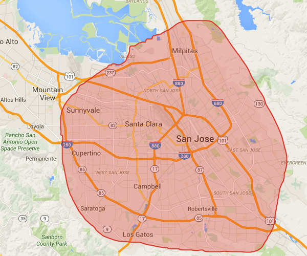 Our cleaning service areas in San Jose